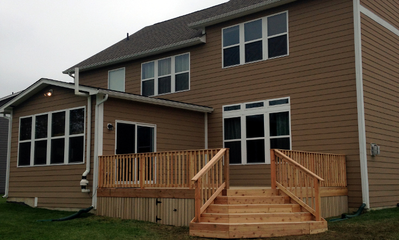 Raised Deck, Westfield, Indiana. Built adhering to all homeowner's association guidelines.